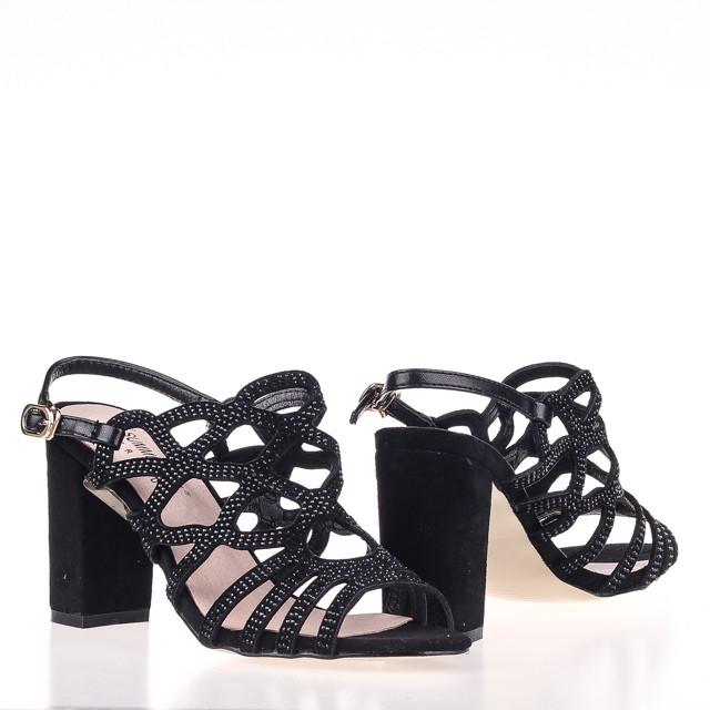 Модные удобные  женские Босоножки  Summergirl D328Y BLACK ZAMSHA ЛЕТО 2020  /// 3308-5 black