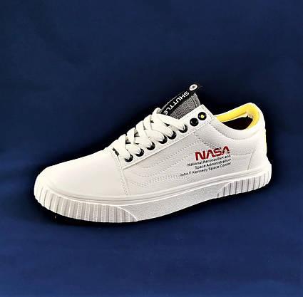 Кросівки NASA Shuttle Білі Кеди Ванс Чоловічі (розміри: 43,44) Відео Огляд, фото 3