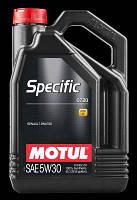 Синтетическое моторное масло Motul Specific 0720 5W-30 5л. (еще есть в продаже 1л., 20л., 60л.) MOTUL