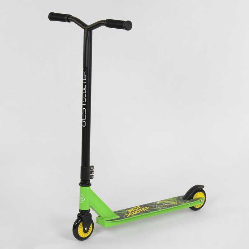 """Самокат трюковый 74918 """"Best Scooter"""" (1) пластиковый диск, колёса PU, d=10см"""