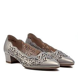 Туфли женские LADY MARCIA (кожаные, летние, с перфорацией, на низком каблуке)