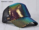 №237 Пайетки Сетка р.55-57 (от 7 лет). р. Бейсболка подросток, фото 4