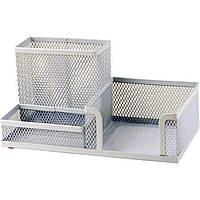 Подставка канцелярская металл сетка Axent 203x105x100мм белая 2116-21-A