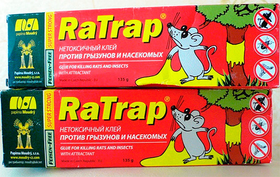 Средство клей RaTrap (Ра трап / РаТрап)135 г - не высыхающий клей для борьбы с грызунами и насекомыми