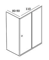 Душові кабіни прямокутні Atlantis 110х80, 110х90