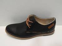 Туфли мужские на шнурках черные