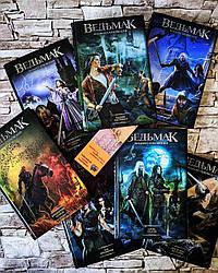 """Набор книг """"Ведьмак. Желание"""", """"Меч"""", """"Кровь"""", """"Час"""", """"Крещение"""", """"Башня"""", """"Владычица"""" Сапковский (тв. переп.)"""
