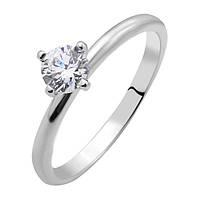 Серебряное кольцо с цирконием Swarovski 000103106 000103106 17 размер