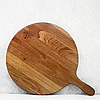 "Деревянная доска с ручкой для разделки и сервировки диаметр 32 см ""Італія"" Lasco, фото 2"