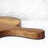 "Деревянная доска с ручкой для разделки и сервировки диаметр 32 см ""Італія"" Lasco, фото 3"