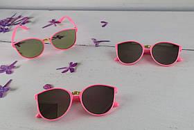 Солнцезащитные Детские очки, розовые, зеркальные 0463+