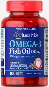 Рыбий жир Puritan's Pride Omega-3 Fish Oil, 1000 mg 100 softgels