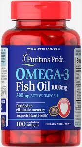 Рыбий жир Puritan's Pride Omega-3 Fish Oil, 1200 mg 100 softgels, фото 2