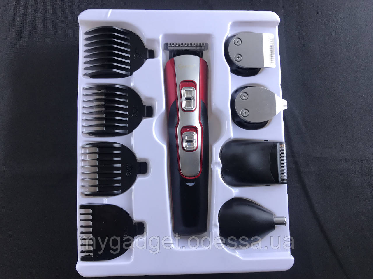 Професійна машинка для стрижки волосся і бороди Gemei GM-592 10-в-1