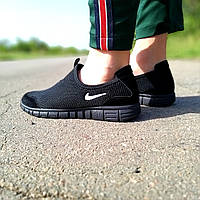 Мужские черные кроссовки найк Nike Free Run 3.0