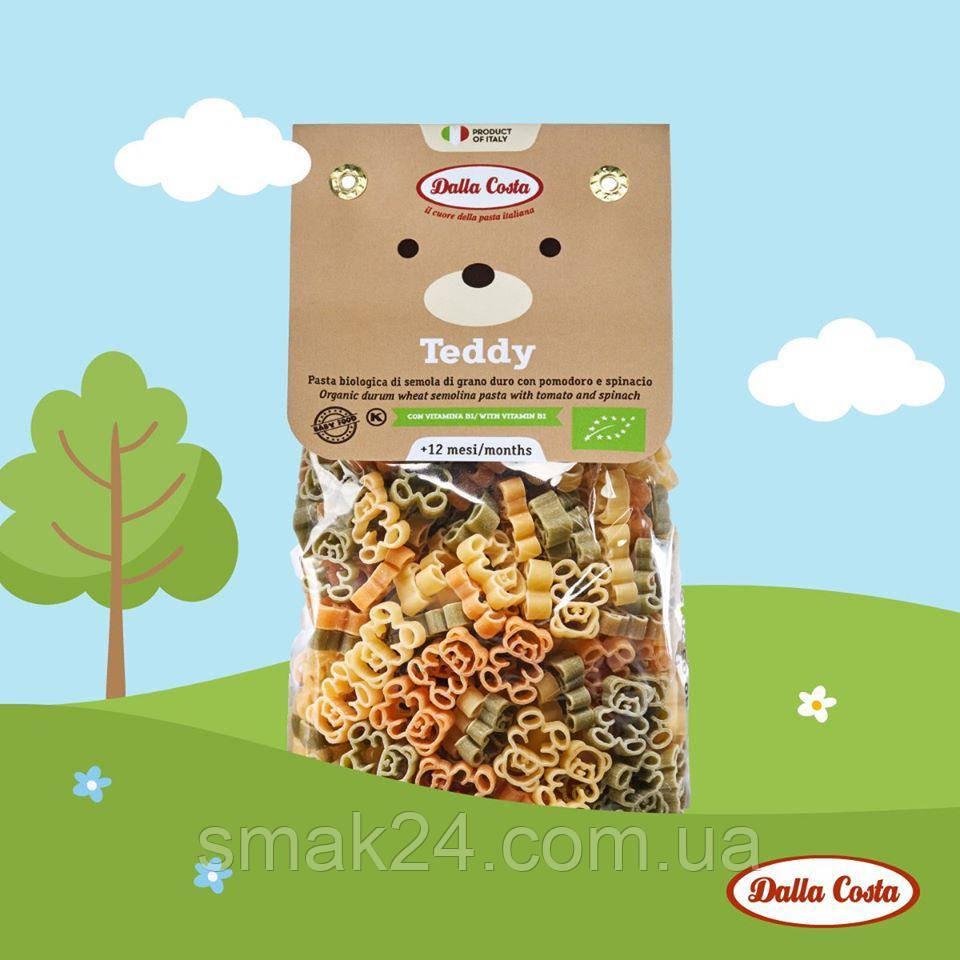 Макарони ведмедики Тедді з томатом і шпинатом Dalla Costa Італія, 250г