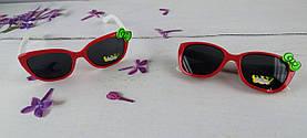Солнцезащитные Детские очки, красные с бантиком 3117+