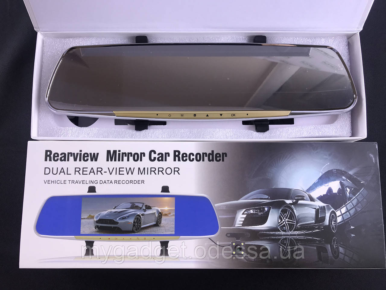 Відеореєстратор дзеркало Blackbox DVR L9000 + Камера заднього виду! Full HD 1080p