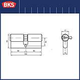 Серцевина замка BKS 50-50 серія b (Німеччина), фото 2
