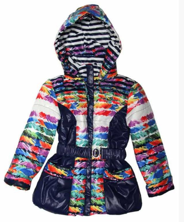Детская демисезонная яркая курточка для девочки 122-128 рост синяя