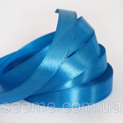 Лента атласная 12 мм, цвет васильковый