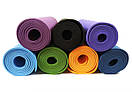 Yoga mat TPE+TC 6 мм однослойный, фото 2