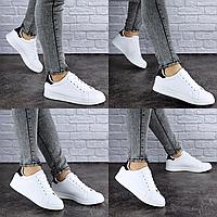 Женские кеды летние белые Salty 1828 Размер 38 - 24 см по стельке, обувь женская