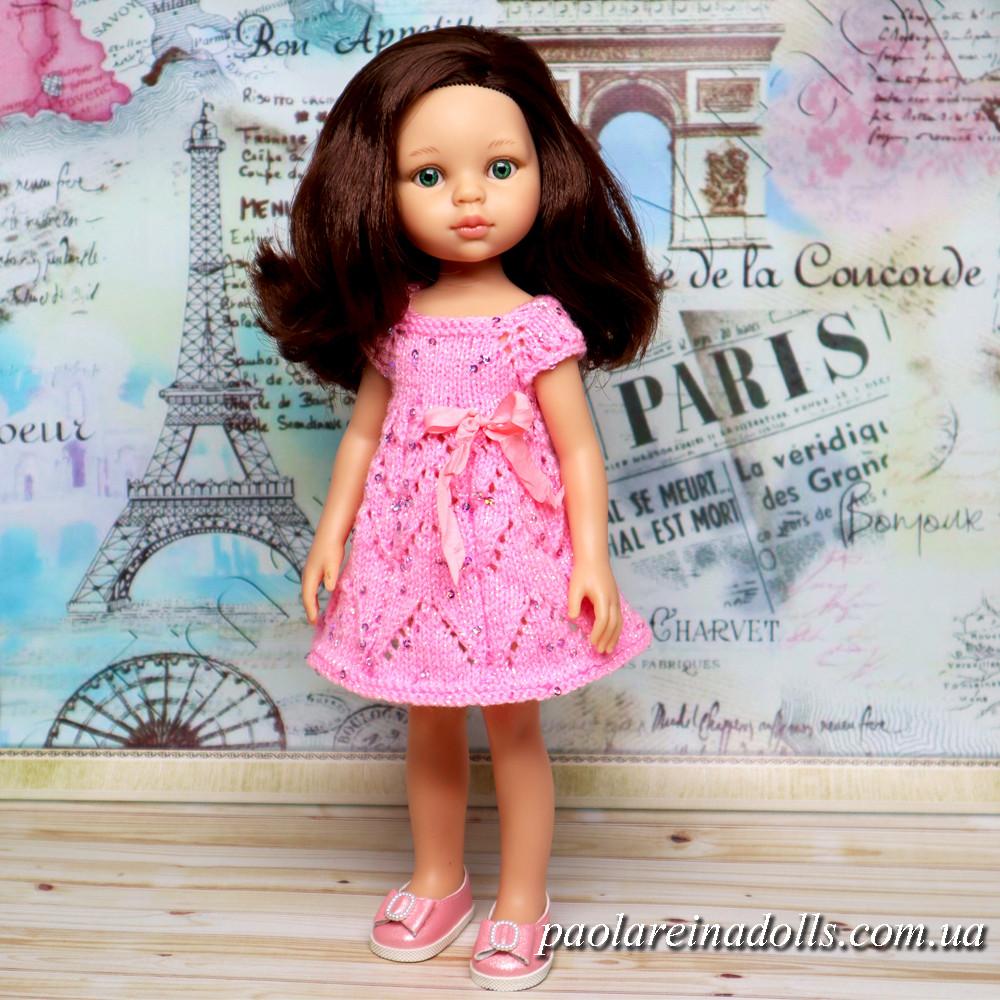 """Платье """"Розовая нежность"""" с паетками для кукол Паола Рейна"""