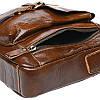 Мужская кожаная сумка через плечо Borsa Leather K15027-brown, фото 5