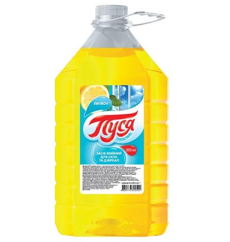 Средство для мытья стекол и зеркал Лимон 5 л, Пуся