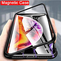 Магнитный чехол для Apple IPhone XR стекло с двух сторон (3 Цвета)