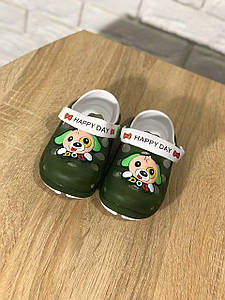 Крокси дитячі Мікс з собачкою зелений колір колір розмір 28 Київ
