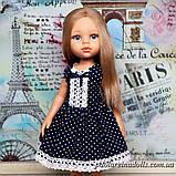 """Платье """"Синие горошки"""" для кукол Паола Рейна, фото 2"""