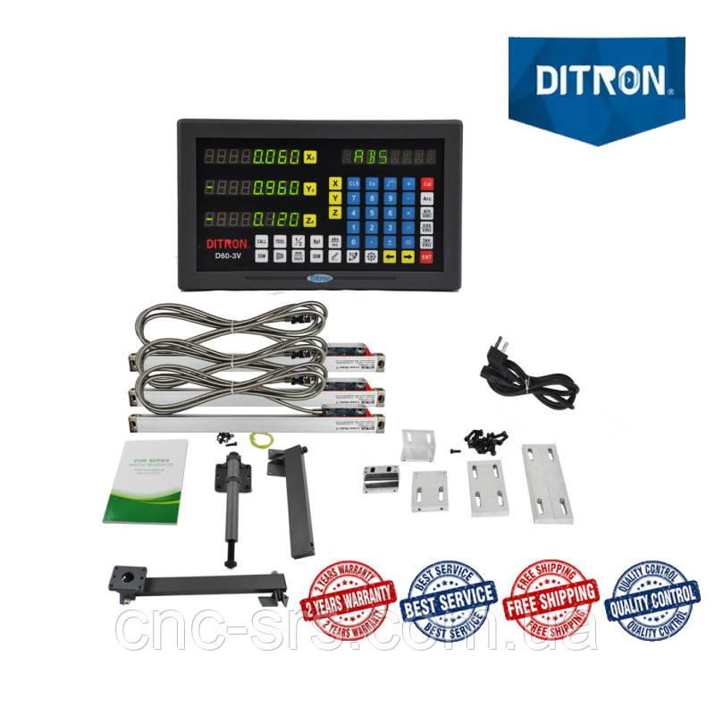 16К20, 3 оси, РМЦ 2000 мм., 1 мкм., комплект линеек и УЦИ Ditron на токарный станок