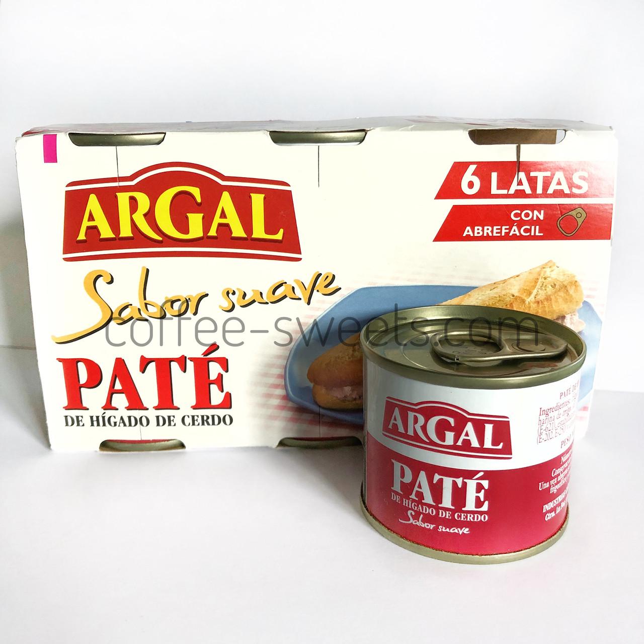 Паштет из свинной Argal Sabor suave Pate 6*83 g