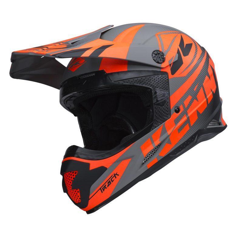 Шлем кроссовый Kenny Track 2018 Grey/Orange