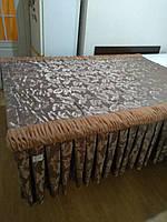 "Покривало коричневе ""Листочок"" двоспальне 160*200 см"