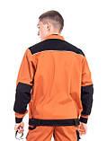 Куртка ПЕРФОРМЕР, 100% бавовна, теракотовий/чорний, фото 2