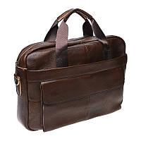 Мужская сумка кожаная Borsa Leather 1t9036-brown