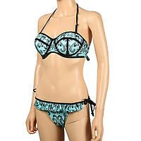 Красивый женский купальник с пуш-ап и трусиками бразилиана рр XL