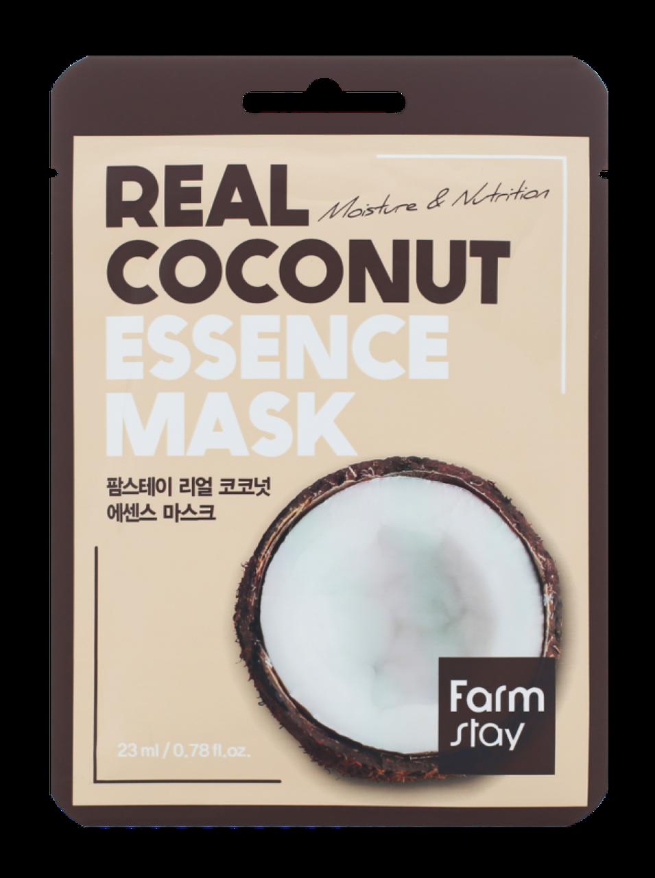 Увлажняющая тканевая маска для лица с экстрактом кокоса FarmStay Real Coconut Essence Mask 23 мл