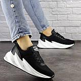 Кросівки жіночі чорні текстиль, фото 2