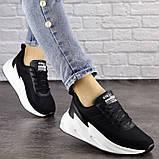 Кросівки жіночі чорні текстиль, фото 3