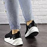Кросівки жіночі чорні текстиль, фото 4