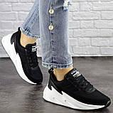 Кросівки жіночі чорні текстиль, фото 5