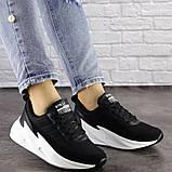 Кросівки жіночі чорні текстиль, фото 6