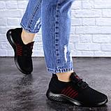 Кроссовки женские черные текстиль, фото 2