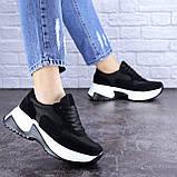 Кросівки жіночі чорні еко - замша, фото 2