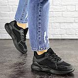 Летние кроссовки женские черные сетка, фото 2