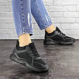 Летние кроссовки женские черные сетка, фото 3